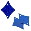 Sequins Hologram 29x36mm With Hole Diamond Royal Blue